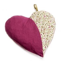 Grünspecht 103-V1 Kirschkern-Kissen Herzenswärme, violett - 1